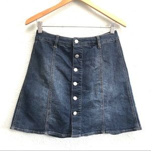 Mossimo Denim Button Up Skirt Size 10